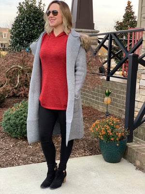 THE AUDREY LONG CARDIGAN