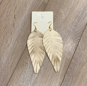 FEATHER SHAPED FRINGE EARRINGS