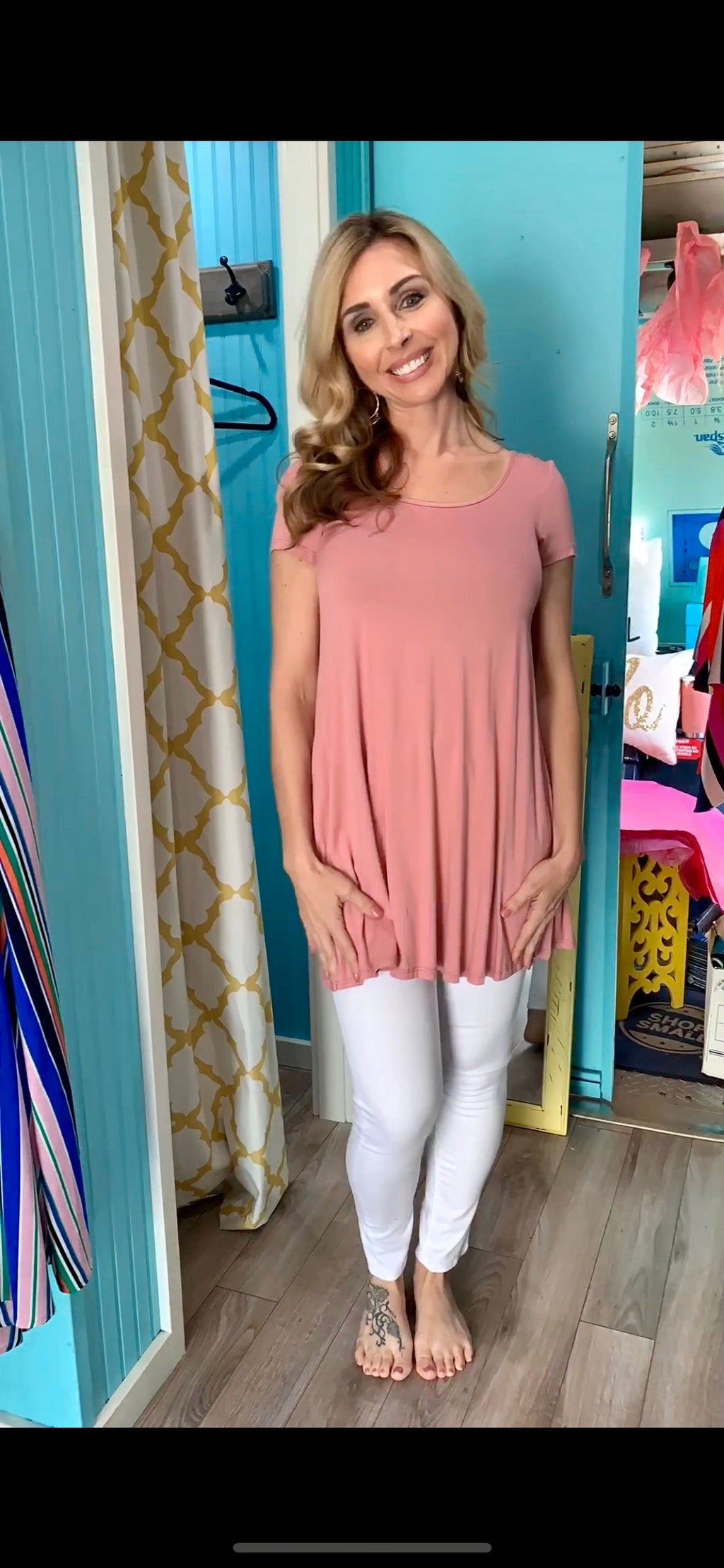 PRETTY IN PINK TUNIC