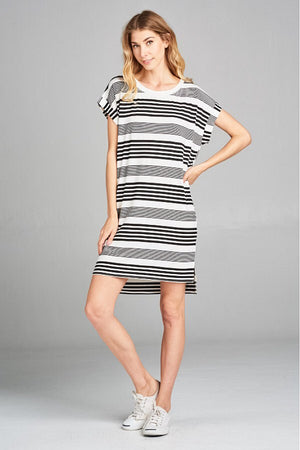 BETWEEN THE LINES STRIPED DRESS