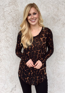 THE MITTENS LEOPARD PRINT TOP