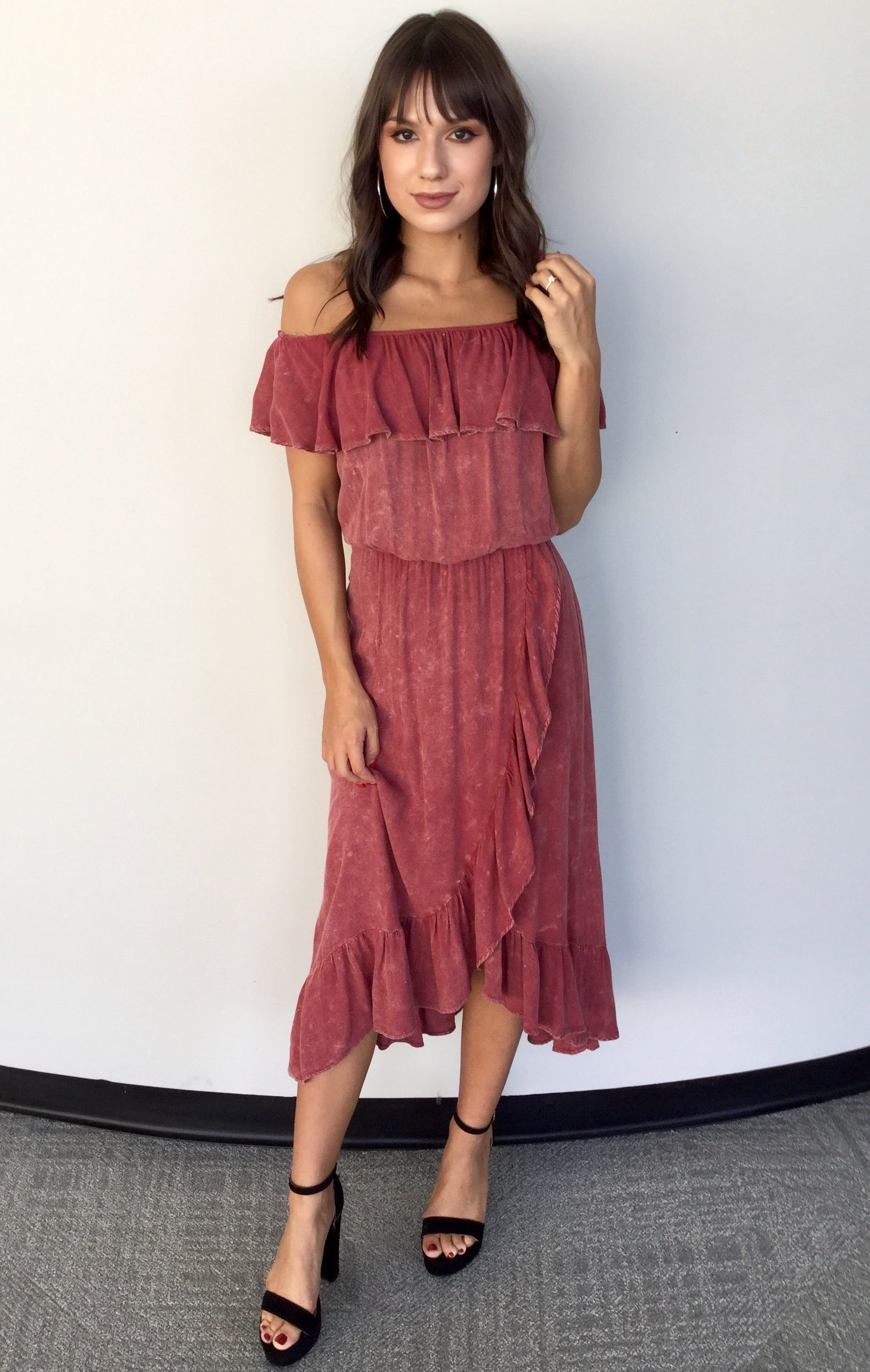 THE CALLIOPE OFF SHOULDER DRESS