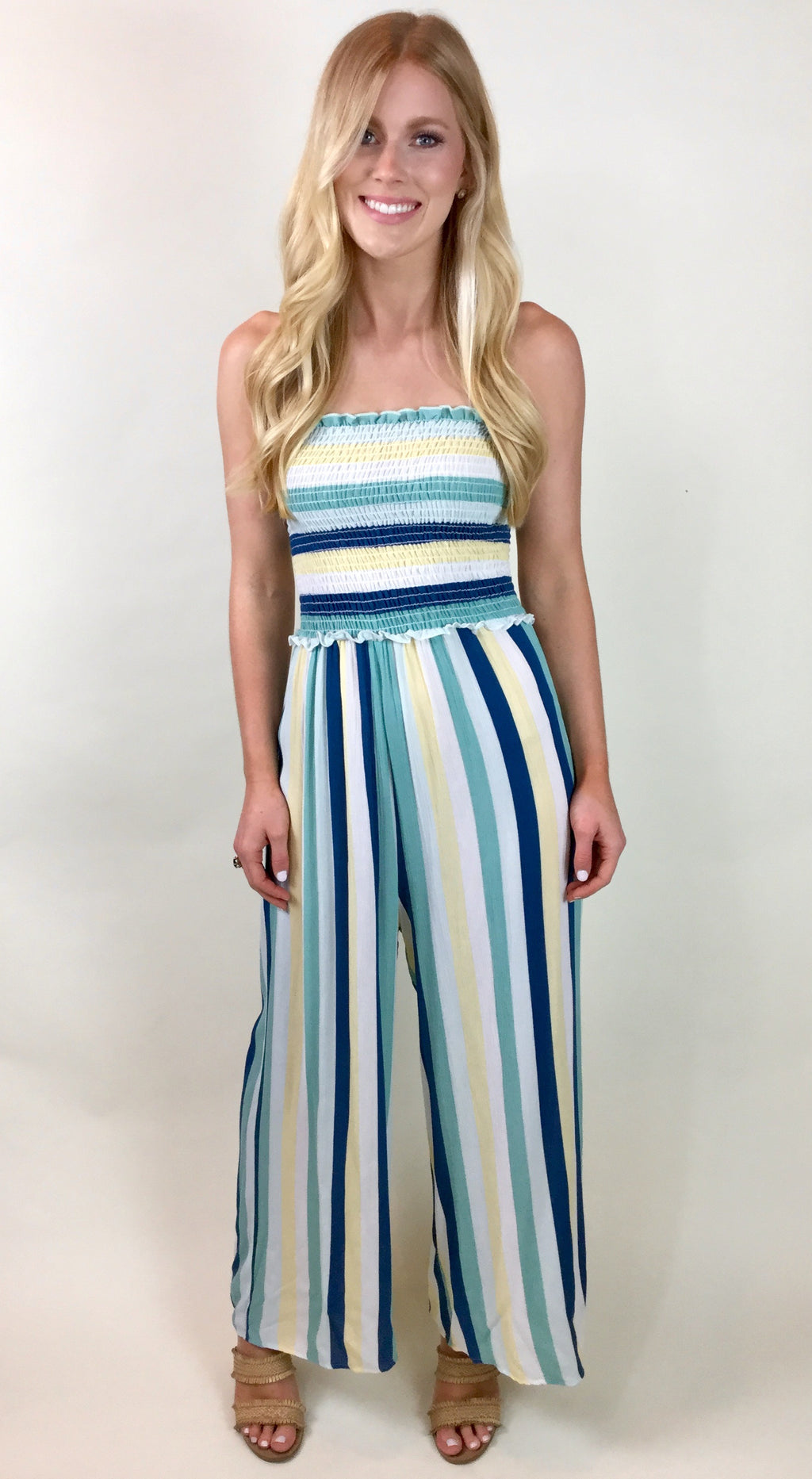 THE SHELBY STRAPLESS JUMPSUIT