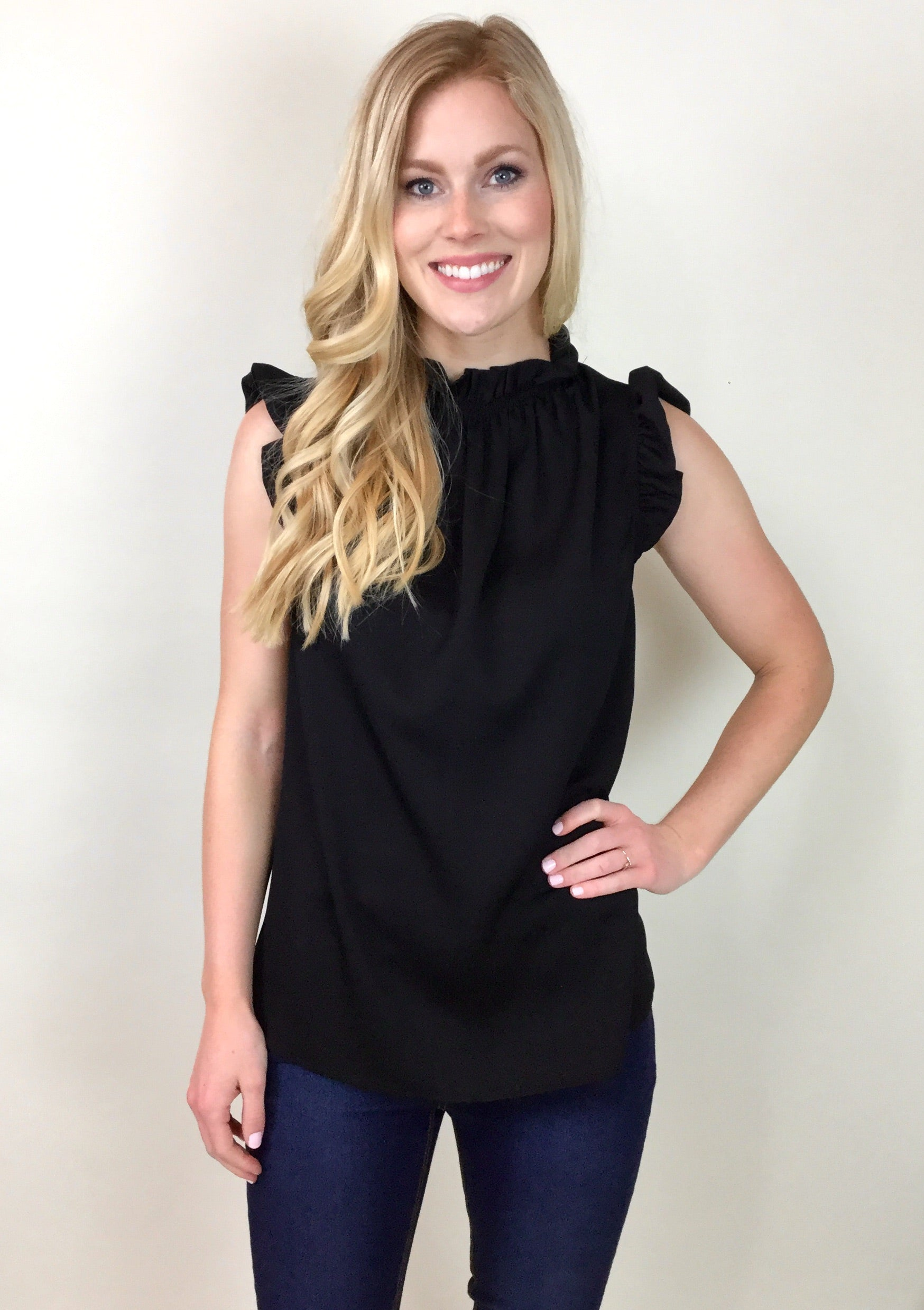 THE EMMA RUFFLE ACCENT TOP
