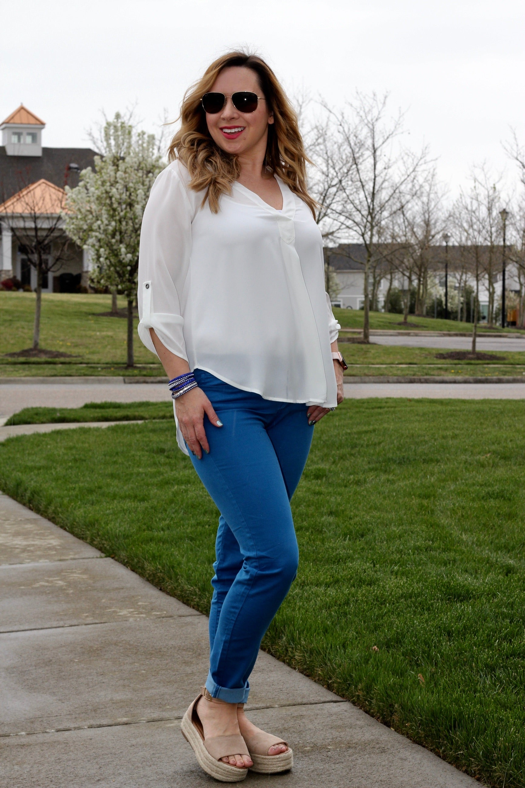 THE NEVA V NECK BLOUSE