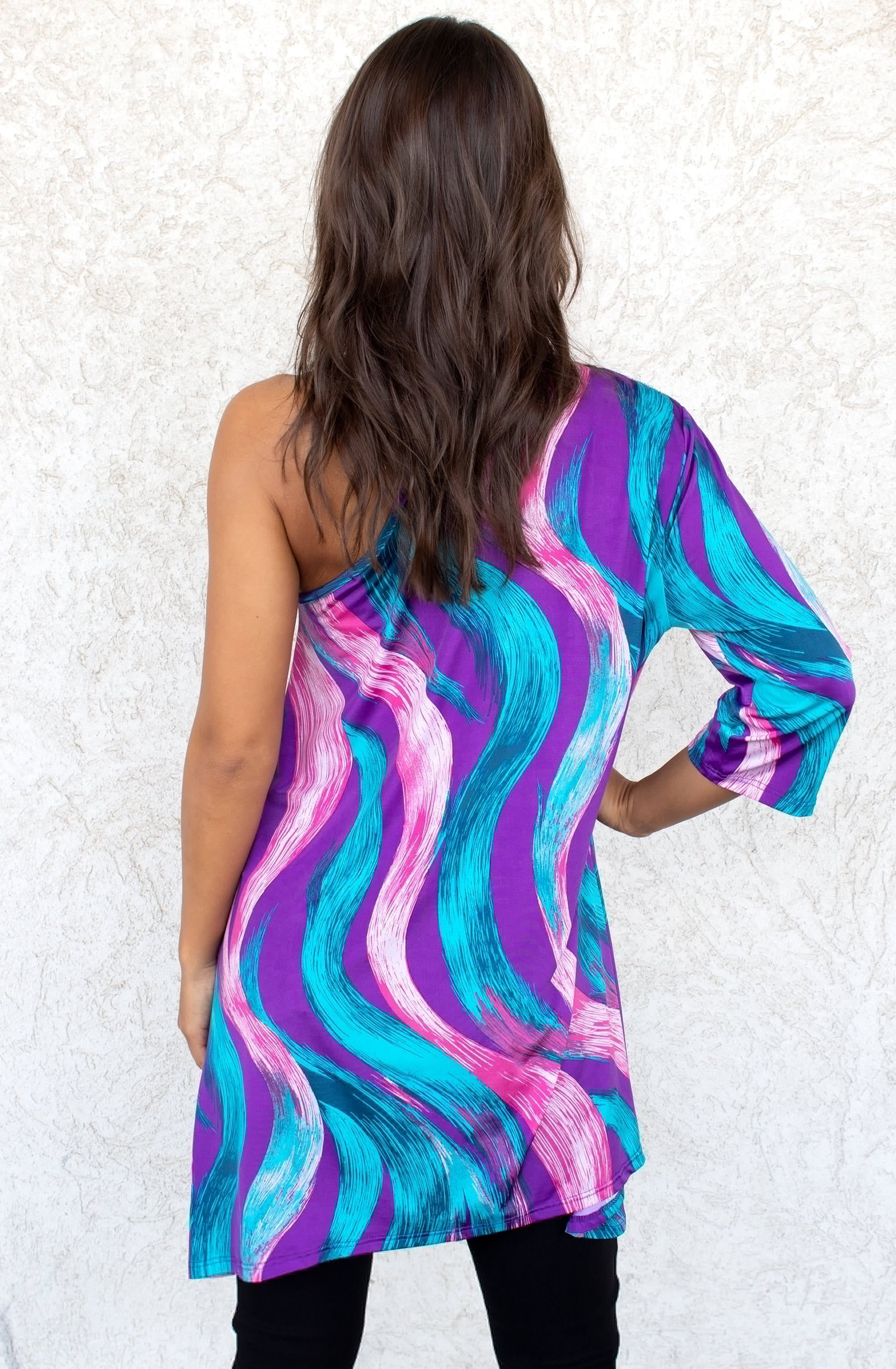 THE TABITHA ONE SHOULDER TUNIC