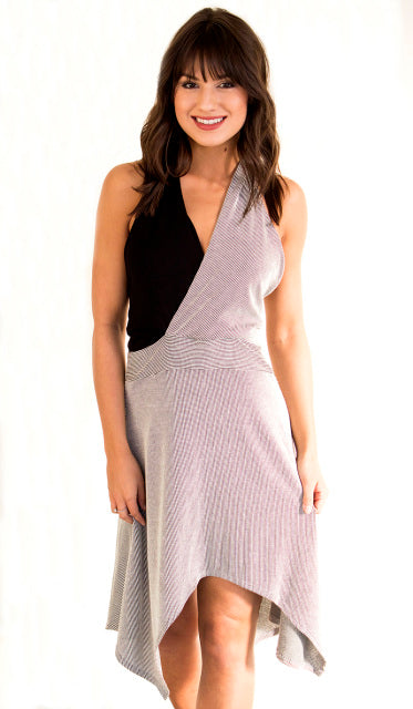 BLURRED LINES HALTER STLYE DRESS