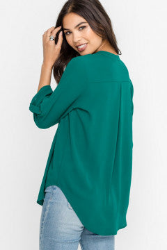 9 TO 9 V Neck Blouse