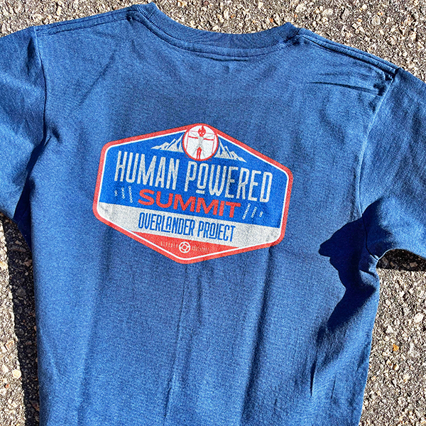 Human Powered summit T-Shirt -  Made in the USA -Made from recycle water bottles