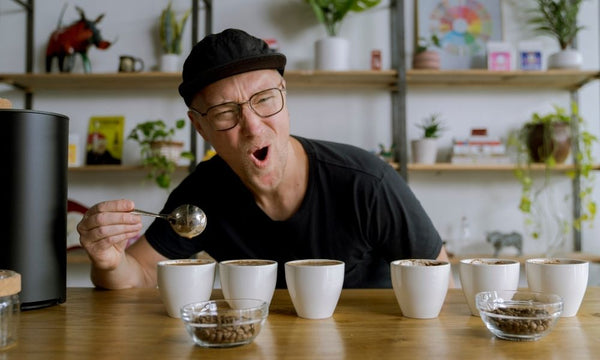Cupping new coffees at Creature Coffee
