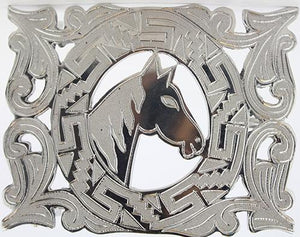 Charro Buckle Horse Design - RR Western Wear, Charro Buckle Horse Design