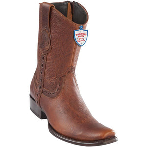 Wild-West-Boots-Mens-Genuine-Leather-Leather-Dubai-Toe-Short-Boots-Color-Walnut