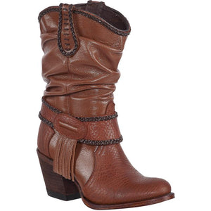 Women's PR Boots Wrinkled Shaft Round Toe Handcrafted - 39B2751