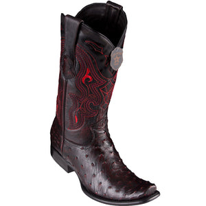 Los Altos Men's Ostrich Black Cherry Cowboy Boots - H79 Dubai Toe