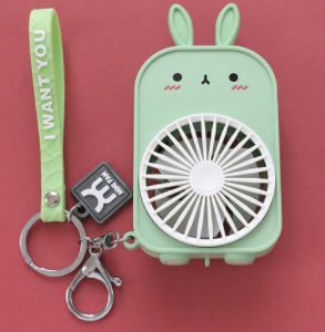 Cute USB Mini Portable Pocket Fans Keychain