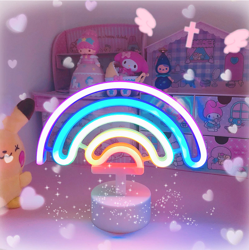 Cute Rainbow LED Neon Light Sign