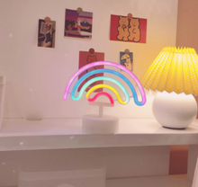 Load image into Gallery viewer, Cute Rainbow LED Neon Light Sign