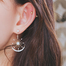 Load image into Gallery viewer, Crystal Snowflake Earrings