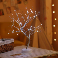 Load image into Gallery viewer, Copper Wire LED Light Mini Bonsai Tree