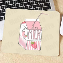 Load image into Gallery viewer, Kawaii Strawberry Milk Rubber Mouse Pad