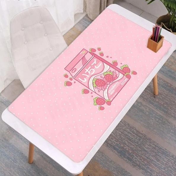 Kawaii Strawberry Milk Rubber Mouse Pad