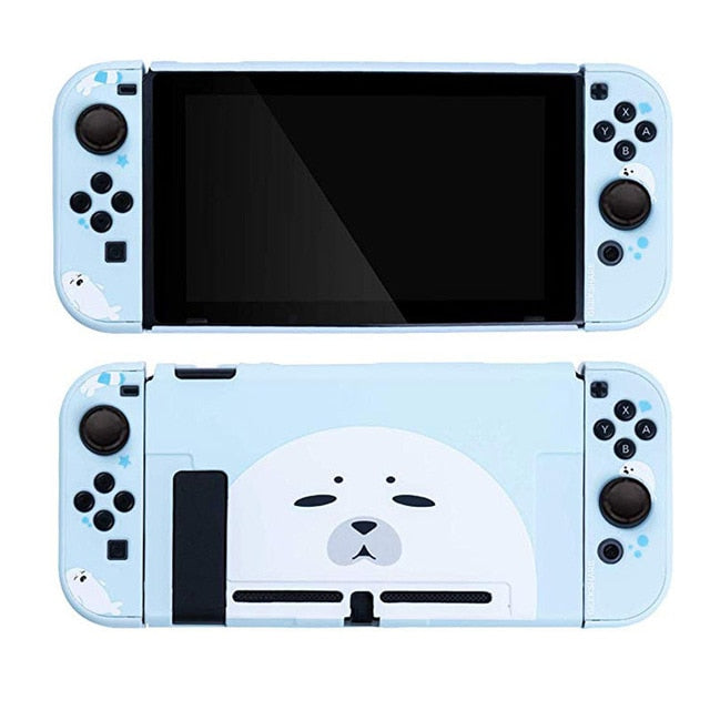 Nintendo Switch Cute Seal Cat Hard Cover Shell