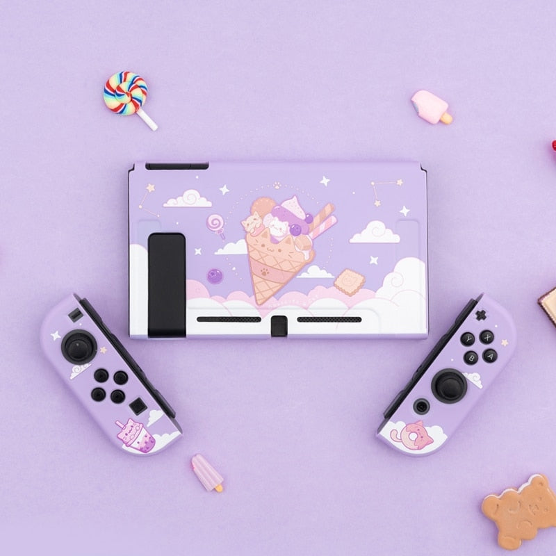 Ice Cream Cat Nintendo Switch Soft Cover Back Shell