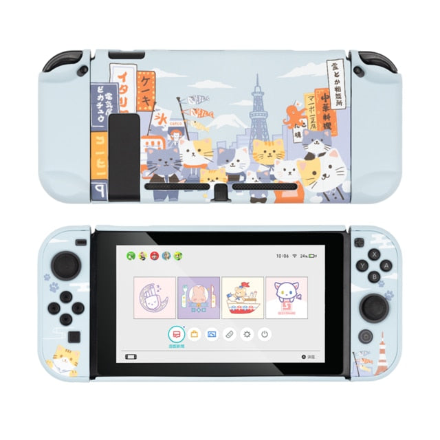 Nintendo Switch Osaka Cats Fun Hard Cover Shell