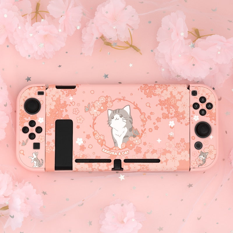 Sakura Cat Nintendo Switch Shell