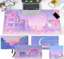 Load image into Gallery viewer, Japanese Digital Art Landscape Pink Aesthetic Mouse Pad