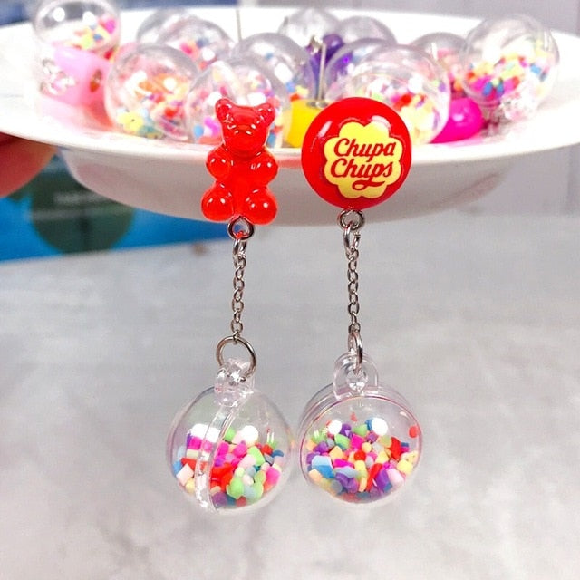 Cute Chupa Chups Candy Gummy Earrings