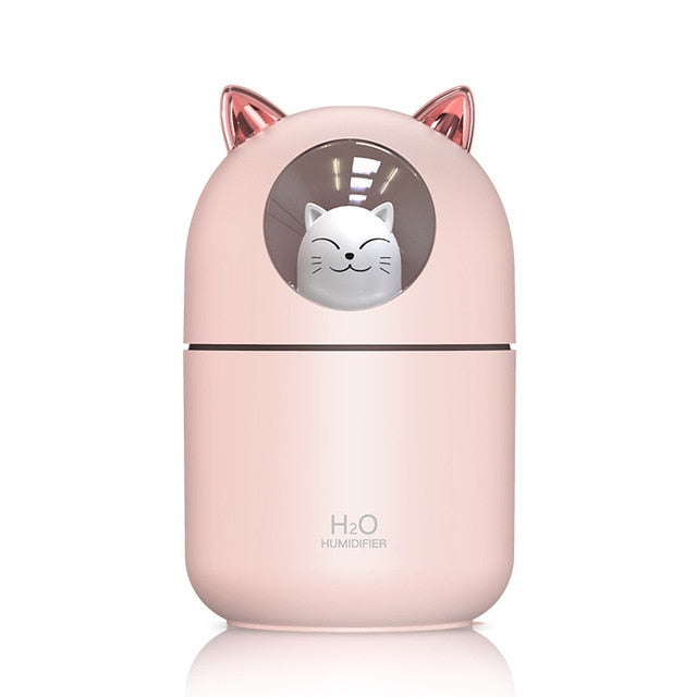 Cute Cat Ultrasonic Mist Humidifier