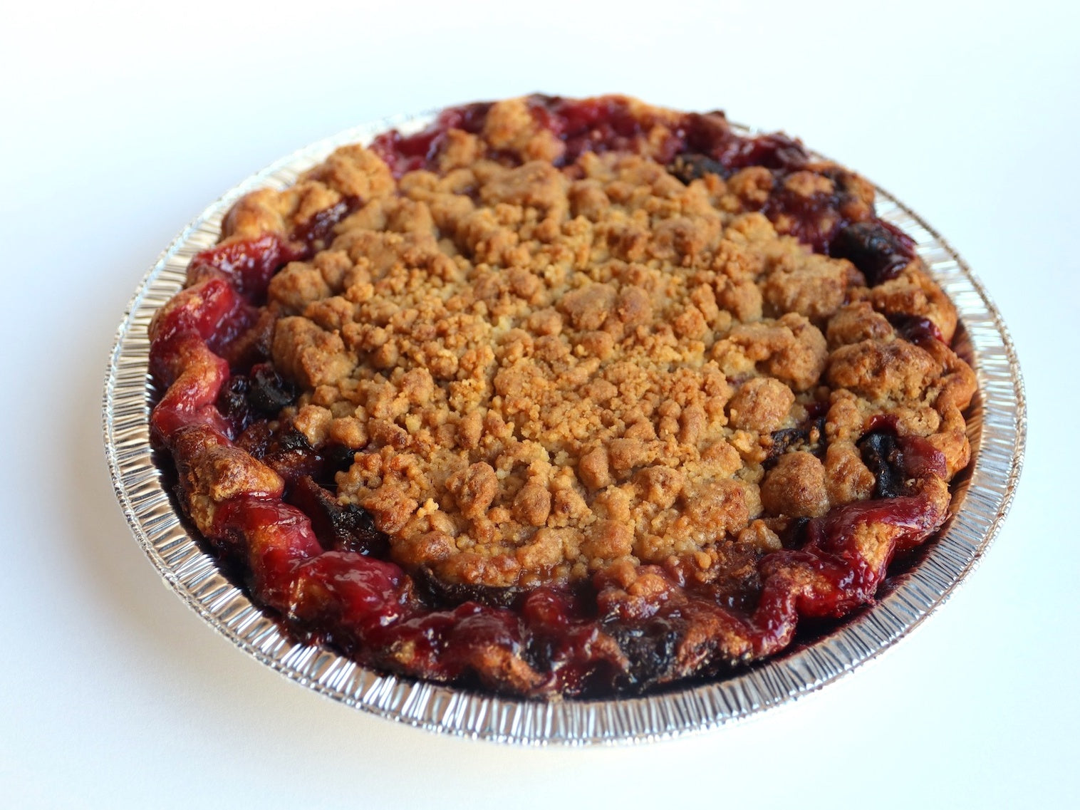 Sour Cherry Pear Crumble Pie