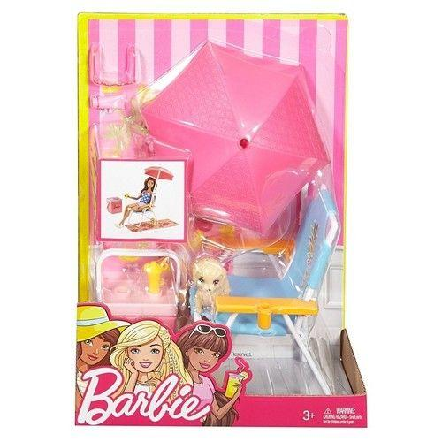 Barbie klapstol og parasol - Barbie