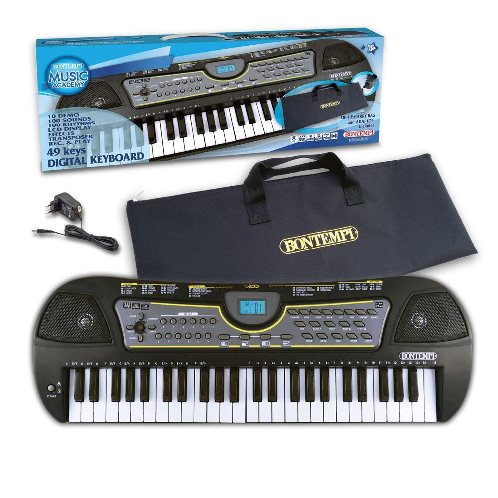 Bontempi - Keyboard 49 tangenter m/taske & USB - Bontempi