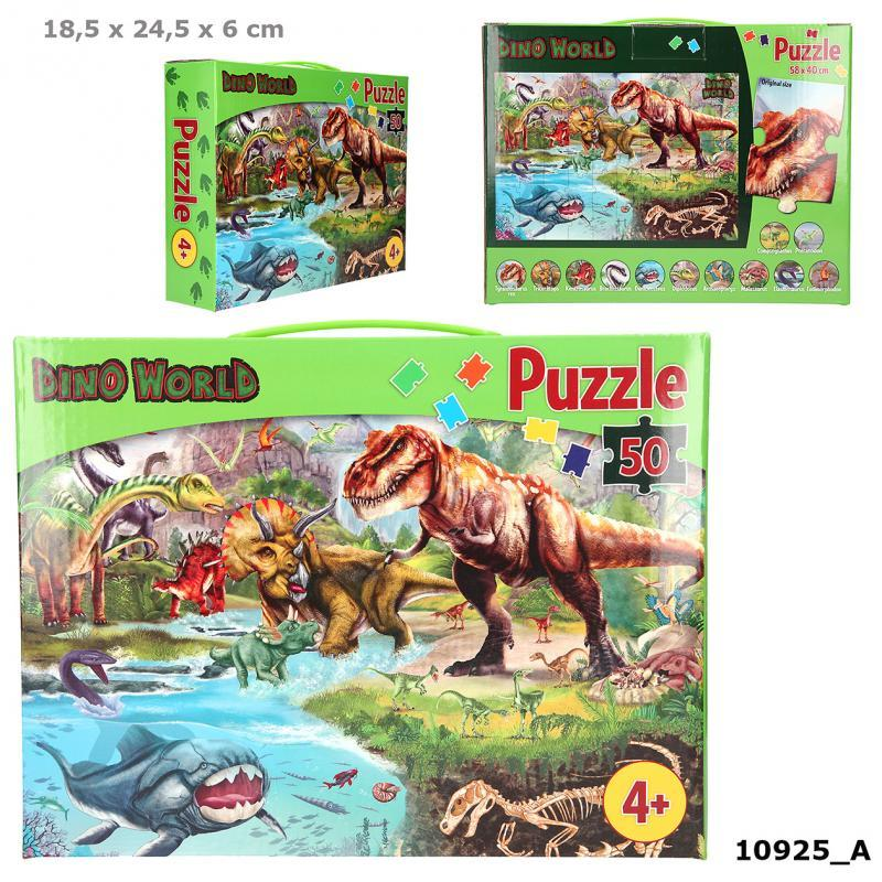 Dino World - Puslespil i Box - Dino World