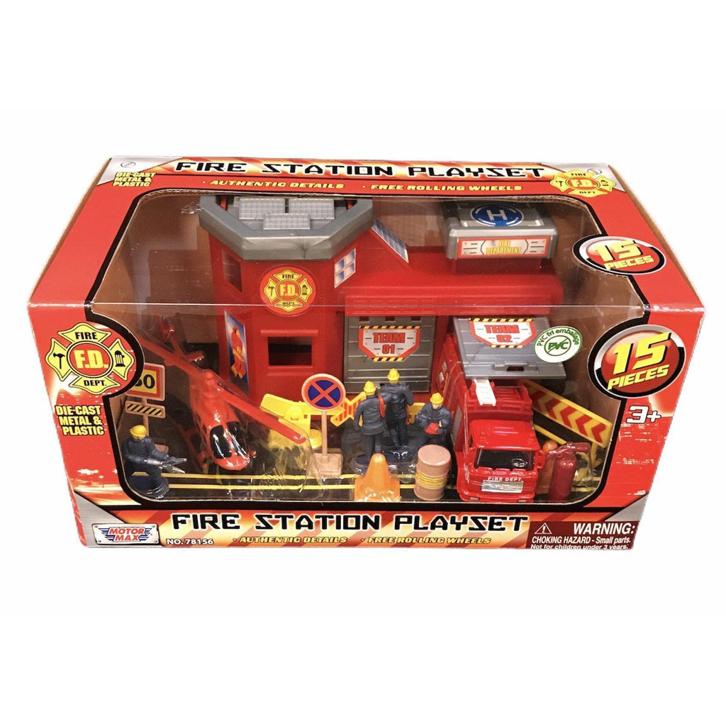 Fire Station Playset - MotorMax