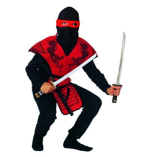 Rød Ninja Fighter - Funny Fashion