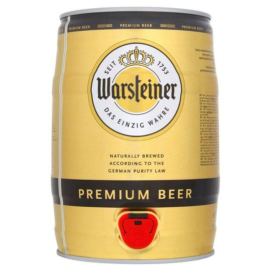 Warsteiner Premium Verum Mini Keg 5 Litre - Shop Mini Kegs ?id=15083657625667
