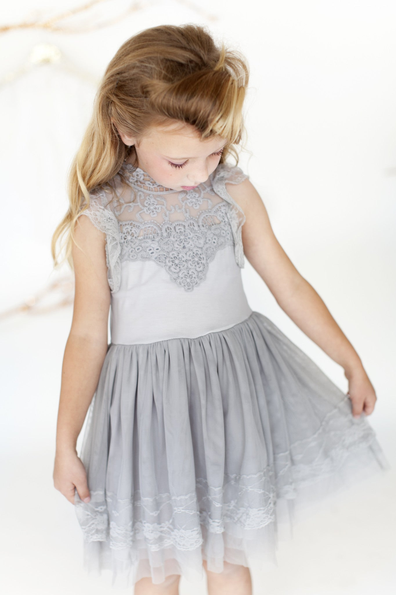 Katarina - Grey Lace Dress *