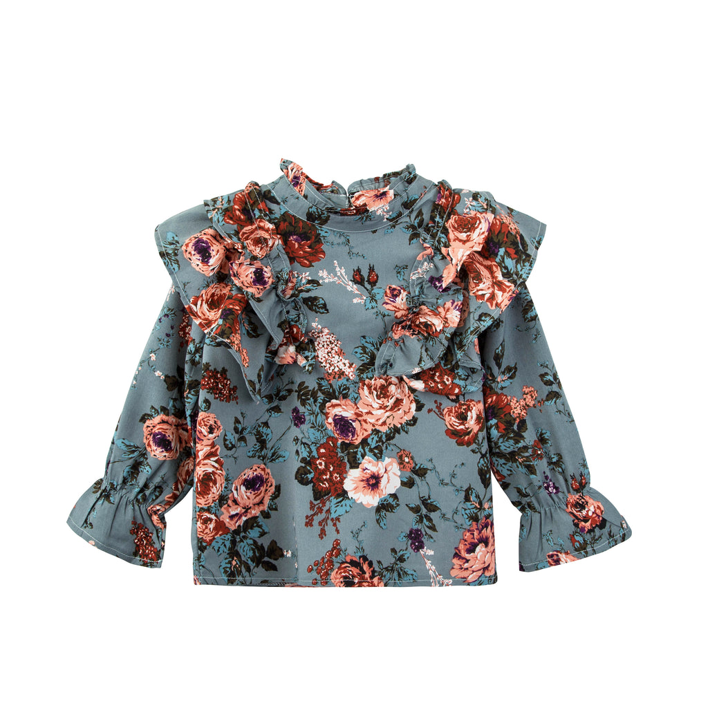 NEW Kenzie ~ Frill Floral Top