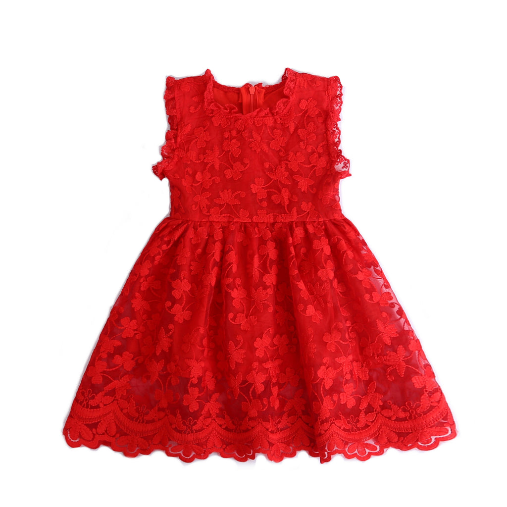 Leslie  ~ Red Lace Dress *