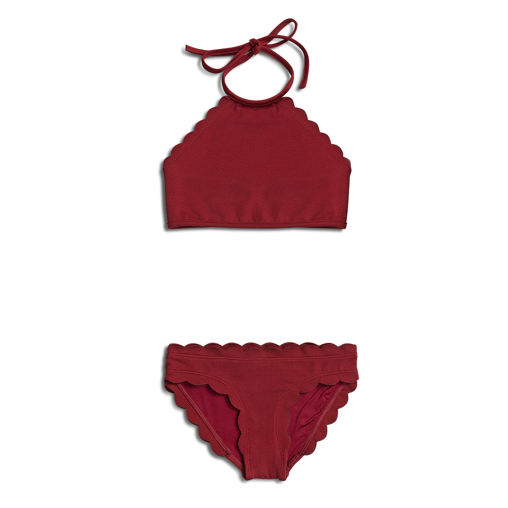NEW Dalia ~ Burgundy Two Piece Toddler Bathing Suit