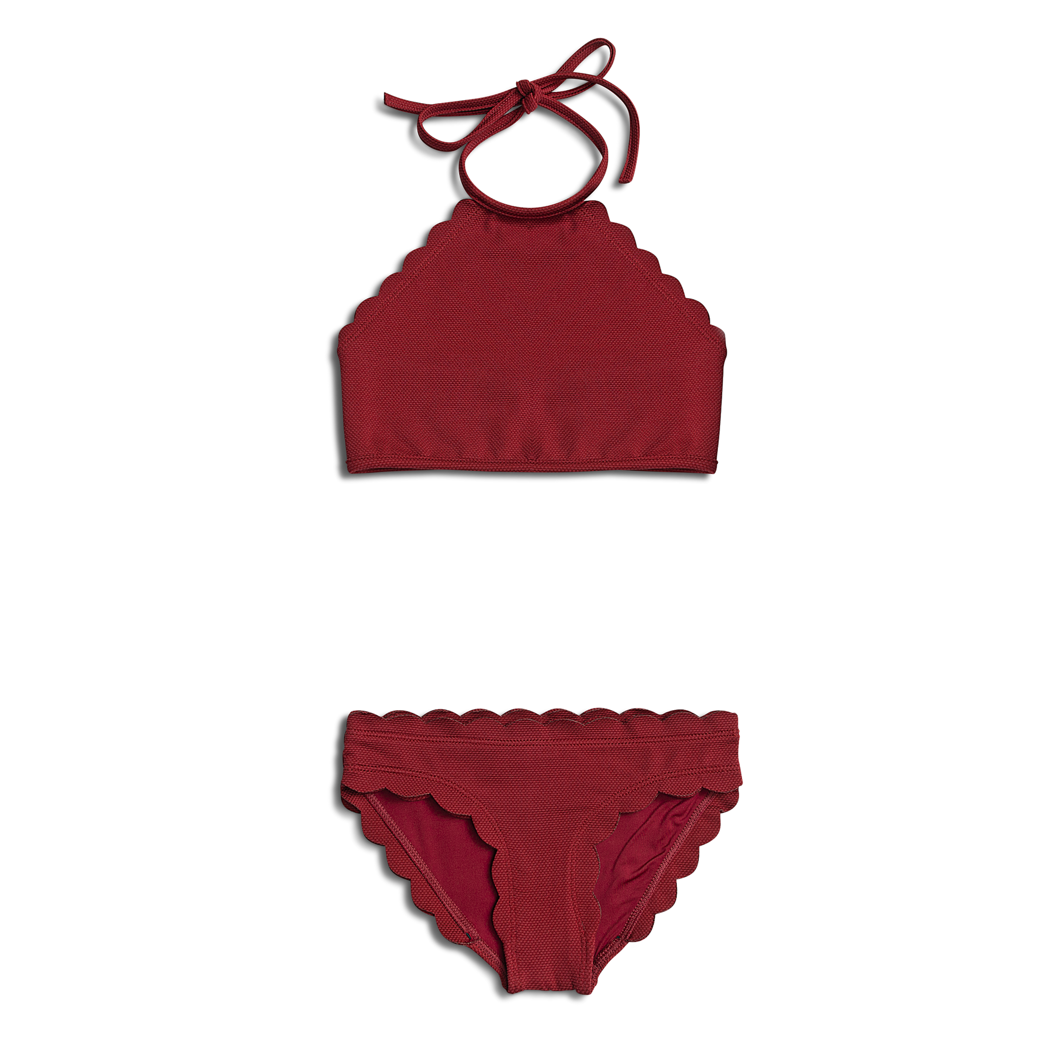 Dalia ~ Burgundy Two Piece Toddler Bathing Suit