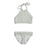 Dalia ~ Toddler Blk & Wht Heart Bathing Suit