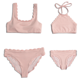 Dalia ~ Pink Two Piece Toddler Bathing Suit
