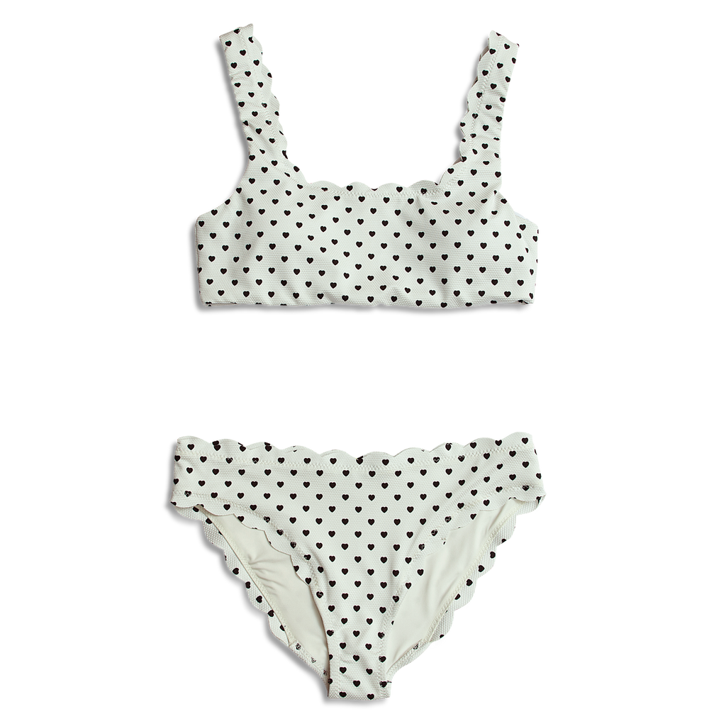 NEW Dalia ~ Blk & Wht Heart Mommy Bathing Suit - TOP ONLY