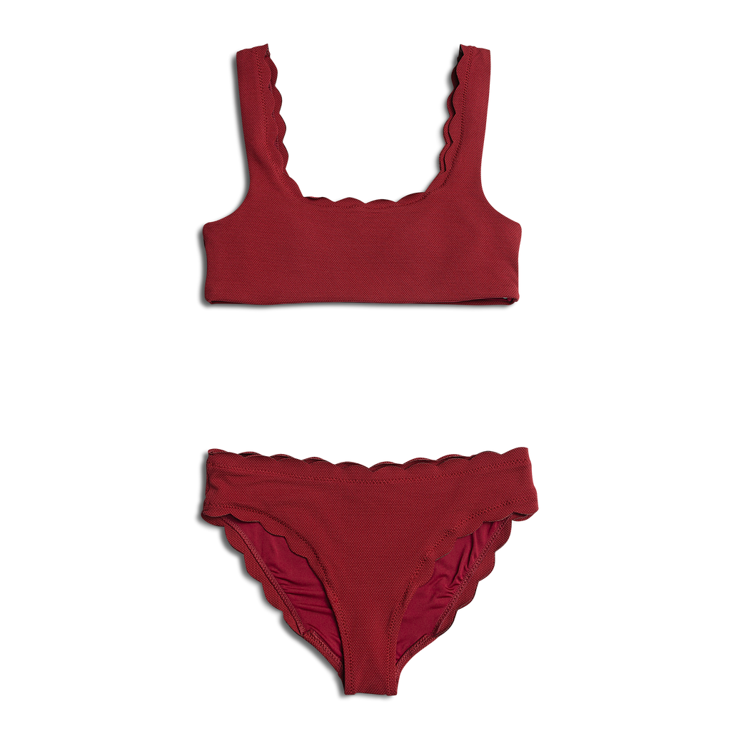 Dalia ~ Burgundy Mommy Two Piece Bathing Suit - BOTTOM ONLY
