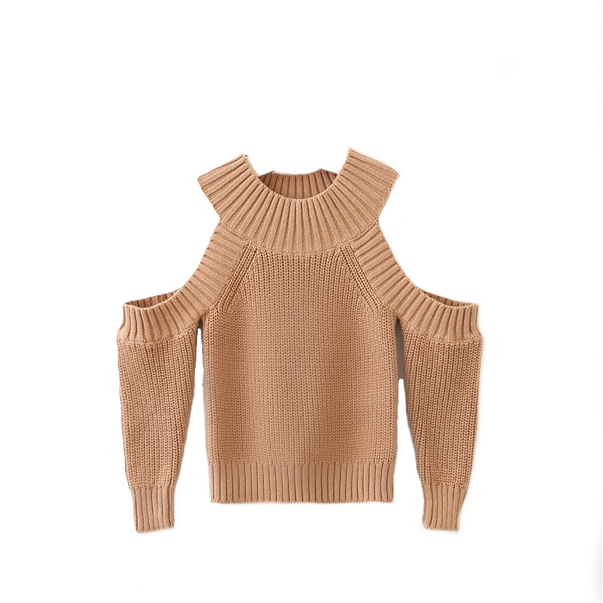 Faye - Open Shoulder Sweater