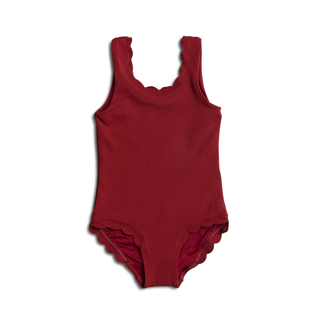 Dee Dee ~ Burgundy Baby One Piece Bathing Suit